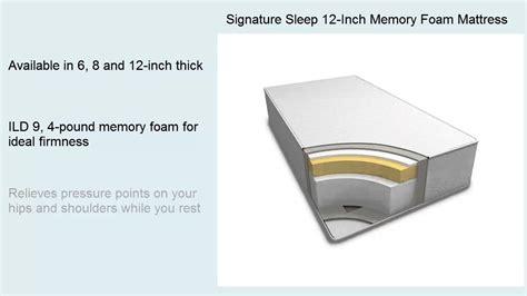 Vi Mattress Reviews by Signature Sleep 12 Inch Memory Foam Mattress Reviews