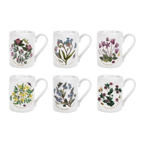Portmeirion Botanic Garden Set Portmeirion Botanic Garden Coffee Mugs Set Of 6 Portmeirion Uk