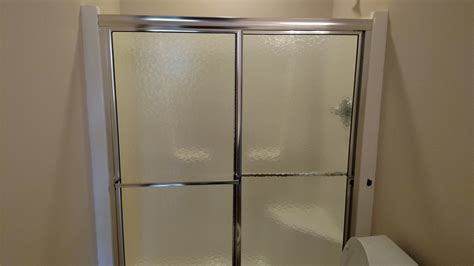 Installed 2 Custom Glass Shower Doors Round Table Top Custom Shower Glass Doors