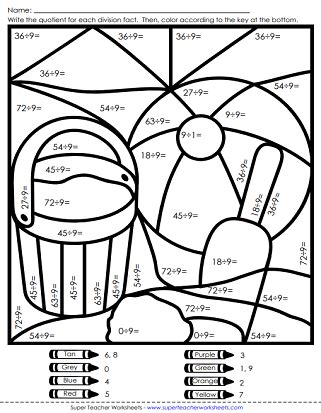 summer math coloring pages summer worksheets