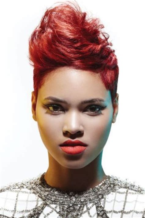 complimenting hairstyle the lip color compliments the hair color dare to wear