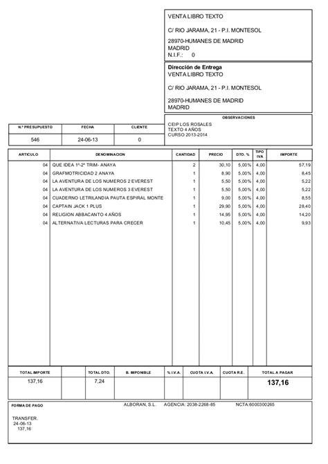 AMPA CEIP LOS ROSALES: Presupuesto para la compra de