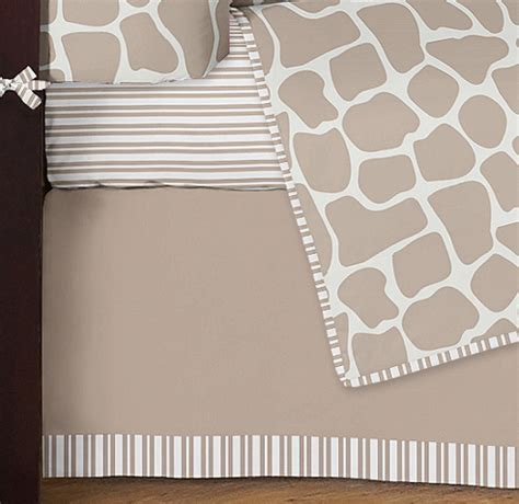 Giraffe Print Crib Sheets giraffe print crib bedding designer gender neutral