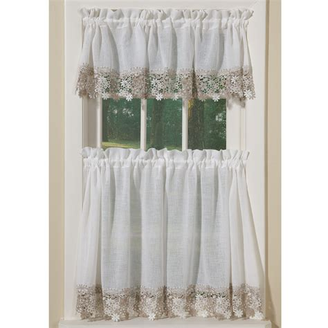 Tiered Kitchen Curtains Lace Curtain Valances And Tiers Curtain Menzilperde Net