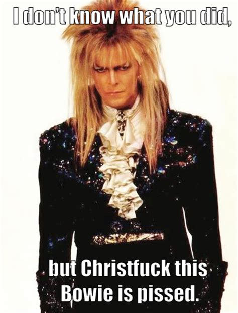 David Bowie Labyrinth Meme - fuck yeah jareth the goblin king
