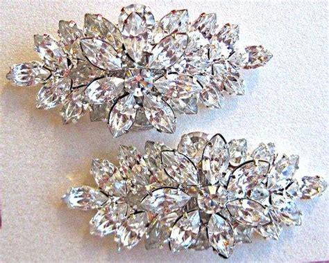 bridal shoe clips vintage style rhinestone shoe clip