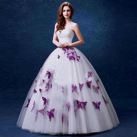 wedding dresses purple purple butterfly wedding dress www pixshark images