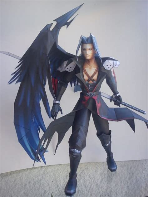 Kingdom Hearts Papercraft - kingdom hearts sephiroth papercraft paper models