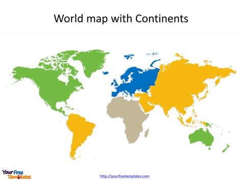 world maps blank template free powerpoint templates
