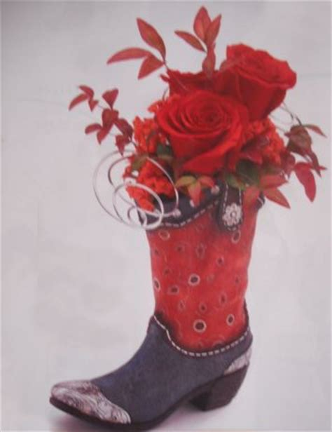 Boot Flower Vase by Footwear Shoe Vases Collection