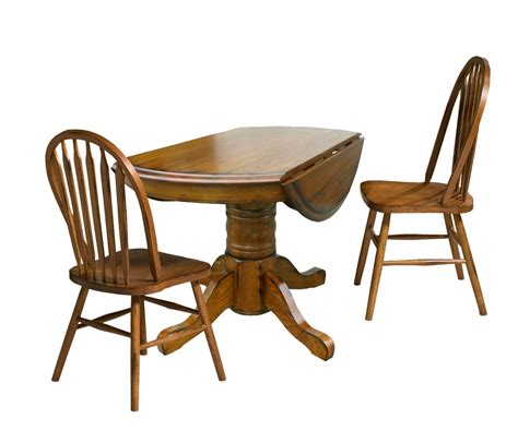 three drop leaf table and chair dining set by