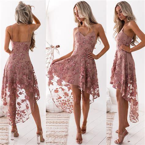 Maxi Dress Sazkia White saskia high low embroidery dress dusty blush honey
