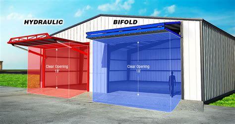 Overhead Bifold Doors Schweiss Doors Steel Building Details Commercial Bifold Door Hydraulic Door Frame