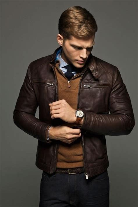 17 best ideas about brown leather jackets on