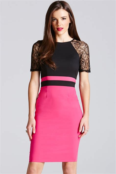 Dress Lace Pink Black paper dolls black and pink lace sleeve dress paper dolls