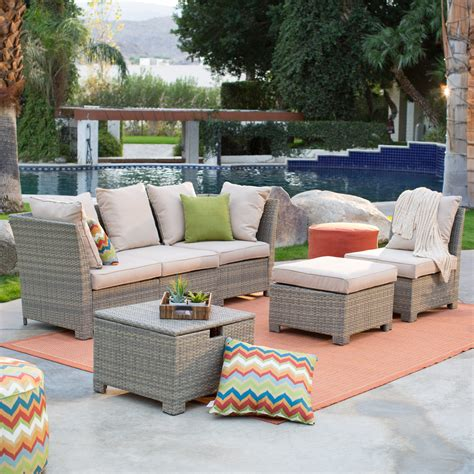 outdoor living room set to it coral coast south isle all weather wicker