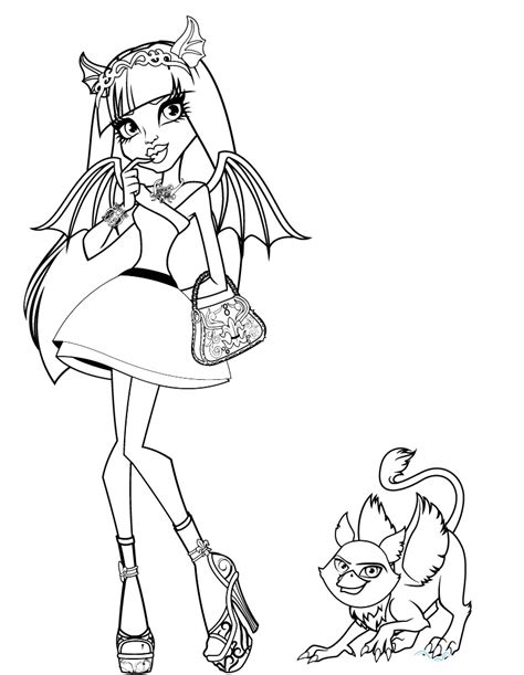 monster high rochelle coloring pages monster high coloring pages to print az coloring pages