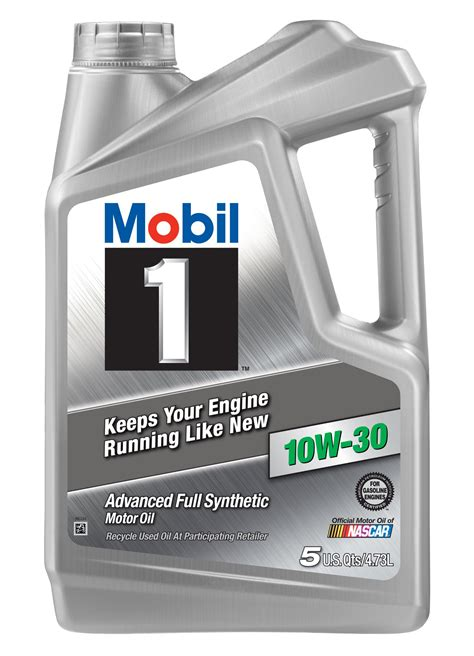 mobil 1 112796 10w 30 synthetic motor 5 quart ebay