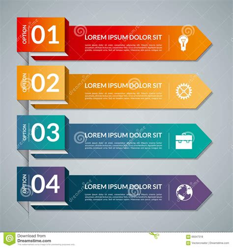 design elements banner infographic template with 4 steps parts options vector