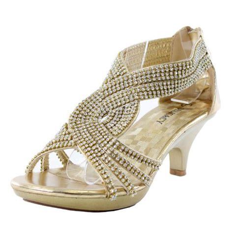 gold dress sandals low heel jjf shoes angel37 gold strappy rhinestone dress sandal low