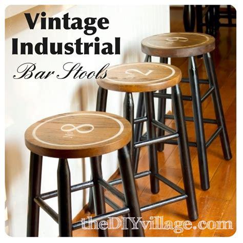 vintage industrial diy bar stools the diy
