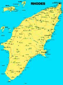 Rhodes Greece Map by Map Of Rhodes Greece