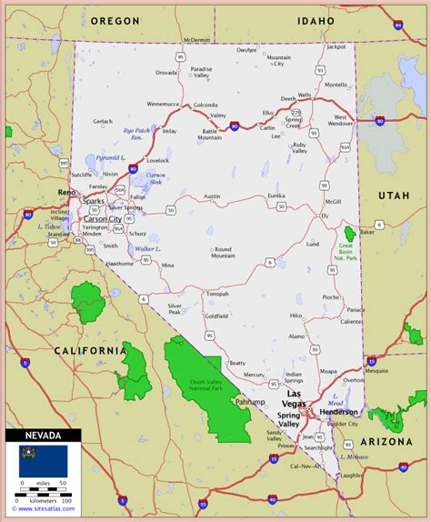 road map nevada usa nevada state highway map maps map usa images free