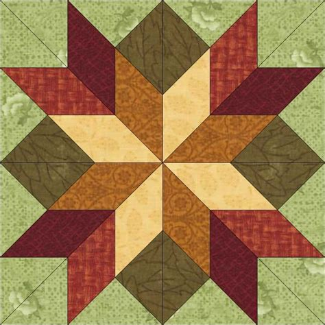 Quilt Blocks by Block 42 Fall Colors Quilt Blocks