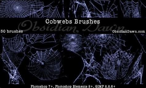 photoshop pattern horror cobwebs brushes brushes fbrushes