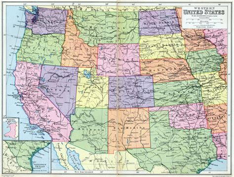 map of western us western united states