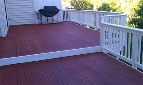 solid white stained rails composite trex decking paint