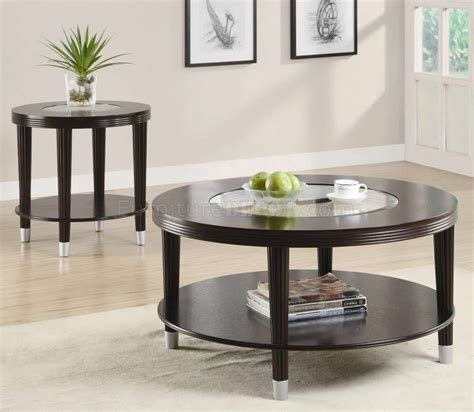Modern Coffee Tables And End Tables Cappuccino Finish Modern Coffee Table W Optional End Table