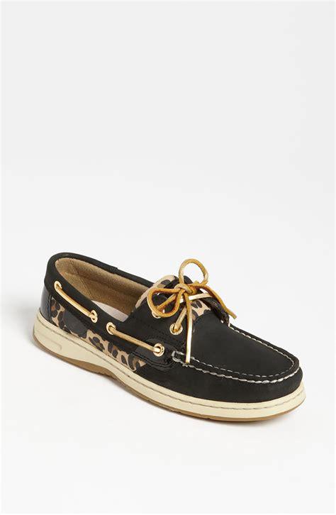 sperry top sider bluefish boat shoe in black black