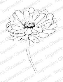 zinnia line drawings - Google Search | Zinnias, Flower