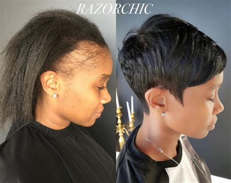 twist hairstyles for thin edges before and after i feel so bad for women who ruin their edges with