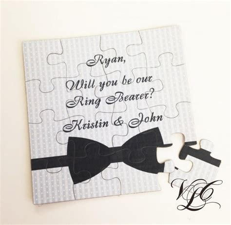 ring bearer card template personalized ring bearer ask ring bearer will