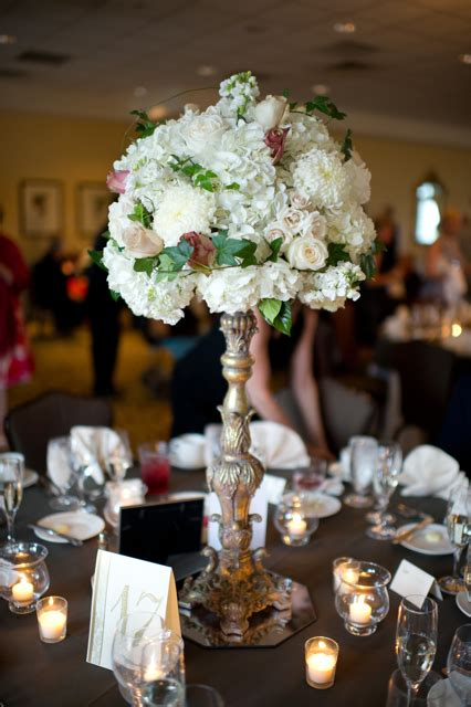 High Vase Centerpieces by And Change Wedding Flowers With Roses