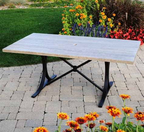 Backyard Creations Manhattan Table Backyard Creations Boulder Creek Table At Menards 174