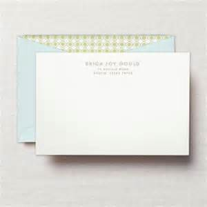 personalized note cards and envelopes personalized stationery sets