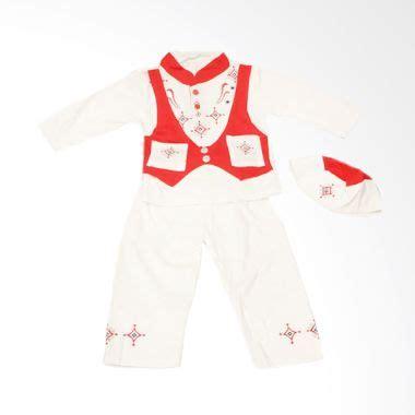 Koko Set Rompi jual adore baju koko anak putih rompi merah 24 mos