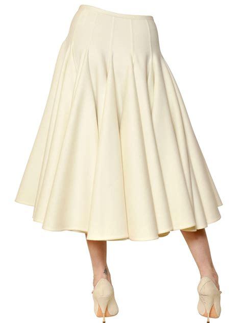 lyst rochas angora wool cloth skirt  yellow