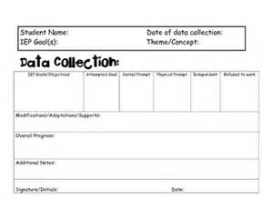 Data Analysis Template For Teachers by Data Collection Template For Special Education Teachers