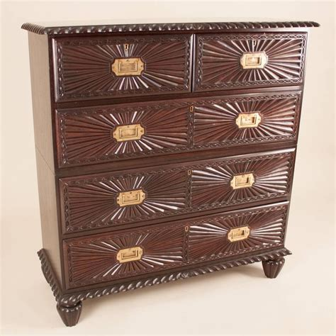 Indian Chest Of Drawers by Anglo Indian Rosewood Quot Sunburst Quot Chest Of Drawers At 1stdibs