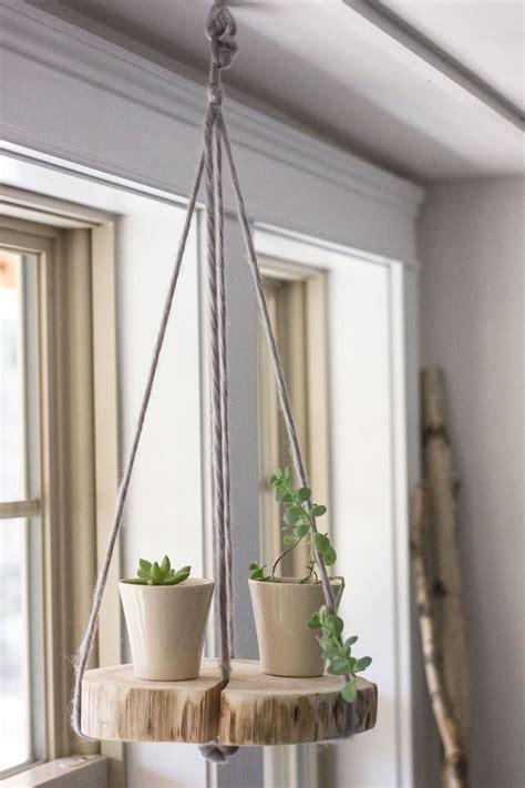 Diy Plant Hangers - diy wood shelf plant hanger refreshed designs