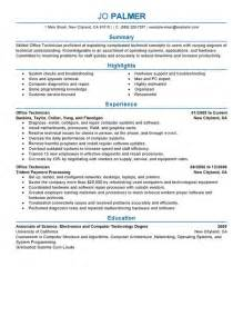Phone Technician Sle Resume by Unforgettable Office Technician Resume Exles To Stand Out Myperfectresume