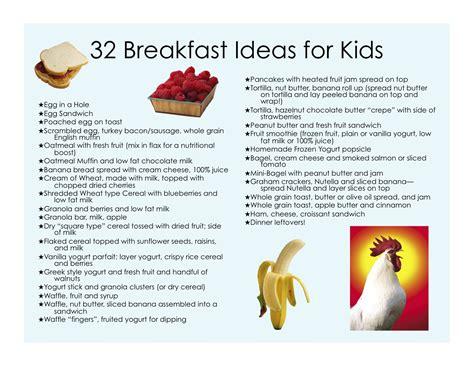 Ideas For Children - 32 healthy breakfast ideas for castle