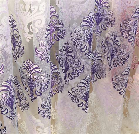 Kain Untuk Tirai eropa gaya mewah tirai jendela tulle dicetak kain untuk