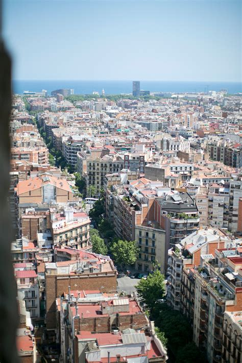 barcelona from above streets of barcelona from above entouriste