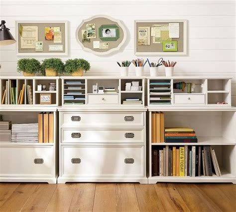 organized home office white cottage office organization traditional other metro