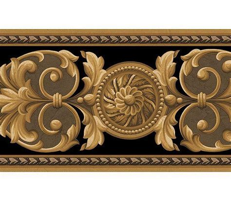 gold wallpaper trim interior place medallion black gold wallpaper border